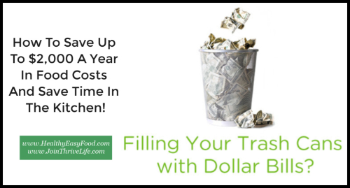 How To Save Up To $2 000 A Year In Food Costs And Save Time In The Kitchen www.HealthyEasyFood.com