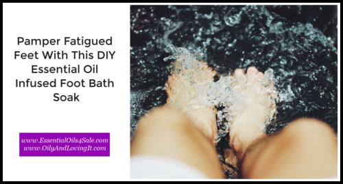 DIY Essential Oil Infused Foot Bath Soak www.EssentialOils4Sale.com