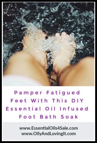 Pamper Fatigued Feet With This DIY Essential Oil Infused Foot Bath Soak www.EssentialOils4Sale.com
