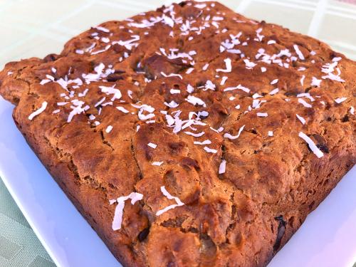 Peanut Butter Banana Split Cake Recipe www.HealthyEasyFood.com