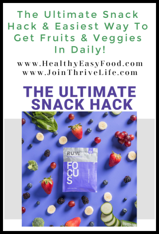 The Ultimate Snack Hack & Easiest Way To Get Fruits & Veggies In Daily - www.HealthyEasyFood.com
