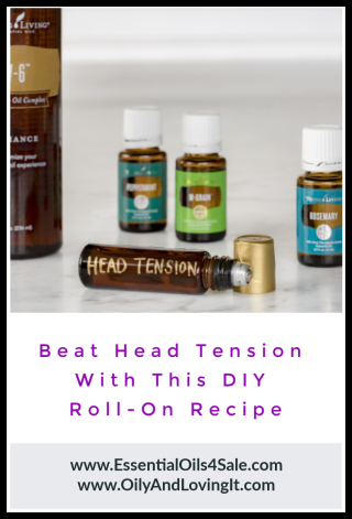 Beat head tension with this DIY roll-on recipe - www.EssentialOils4Sale.com