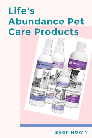 Life's Abundance Pet Care Products www.HealthyPetPeeps.com