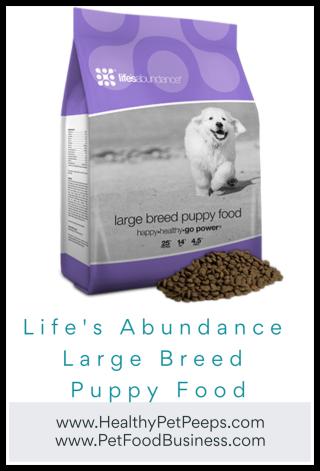 Life's Abundance Large Breed Puppy Food - www.HealthyPetPeeps.com