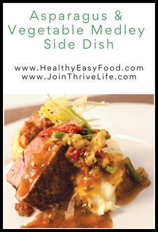 Asparagus & Vegetable Medley Side Dish - www.HealthyEasyFood.com