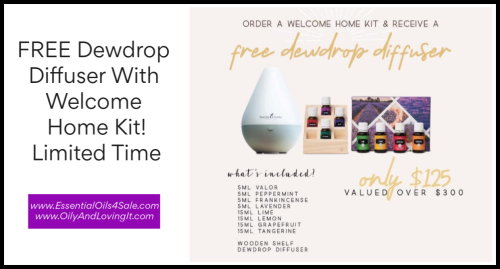 Welcome Home Kit With FREE Dewdrop Diffuser www.EssentialOils4Sale.com