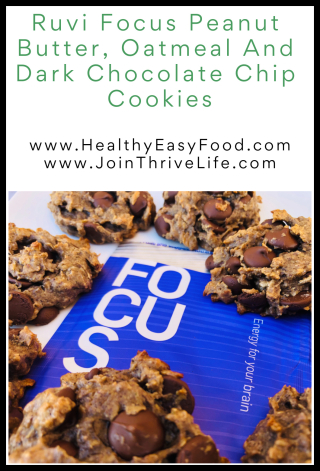 Ruvi Focus Peanut Butter  Oatmeal And Dark Chocolate Chip Cookies - www.HealthyEasyFood.com
