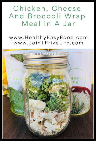 Chicken  Cheese And Broccoli Wrap Meal In A Jar - www.HealthyEasyFood.com