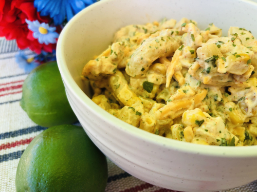 Recipe for One Pot Street Chicken And Corn Salad - www.HealthyEasyFood.com