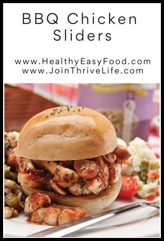 BBQ Chicken Sliders - www.HealthyEasyFood.com
