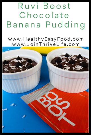Ruvi Boost Chocolate Banana Pudding  from www.HealthyEasyFood.com