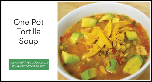 One Pot Tortilla Soup www.HealthyEasyFood.com