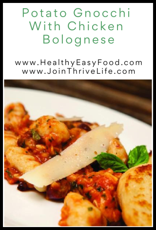 Potato Gnocchi with Chicken Bolognese - www.HealthyEasyFood.com