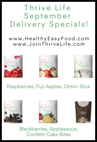 September Thrive Life Delivery Specials www.HealthyEasyFood.com