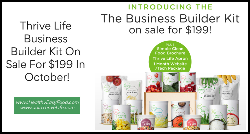 Thrive Life Consultant Business Builder Kit On Sale For $199 In October www.HealthyEasyFood.com