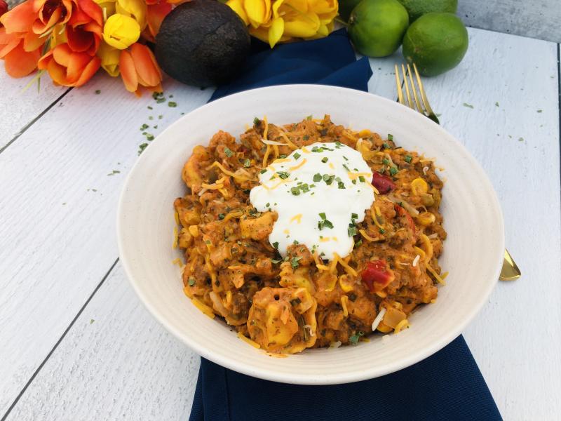 Easy Taco Tortellini Dinner www.HealthyEasyFood.com
