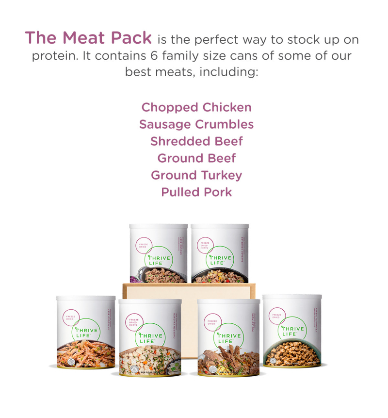 Thrive Life Cyber Monday Meat Pack www.HealthyEasyFood.com