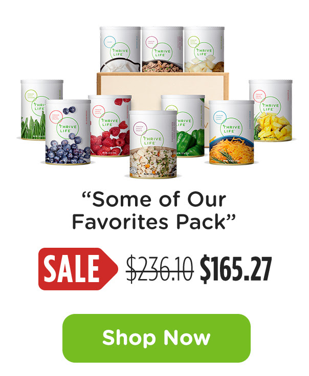 Thrive Life Some Of Our Favorites Pack Sale www.HealthyEasyFood.com