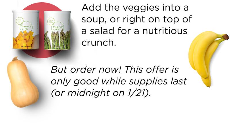 Add the veggies in