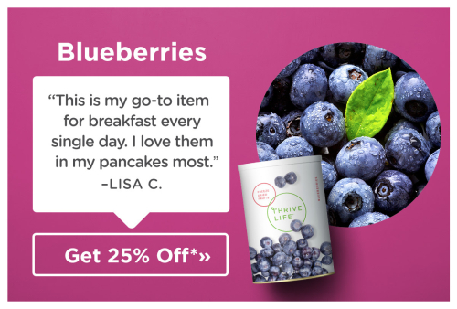 Thrive blueberries