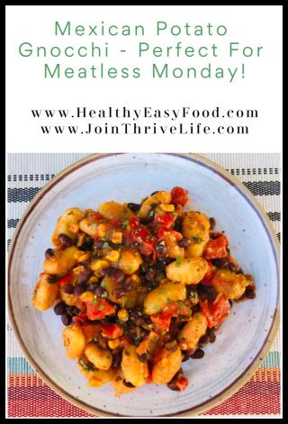 Mexican Potato Gnocchi One Skillet Meal www.HealthyEasyFood.com