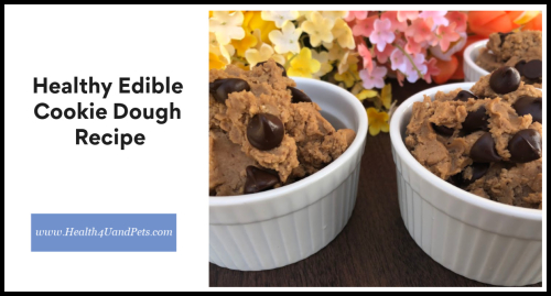 Healthy Edible Cookie Dough Recipe www.Health4UandPets.com