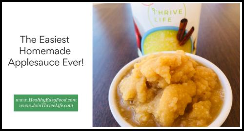 The Easiest Homemade Applesauce Ever www.HealthyEasyFood.com