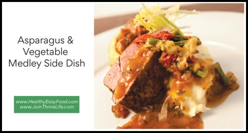 Asparagus & Vegetable Medley Side Dish  www.HealthyEasyFood.com