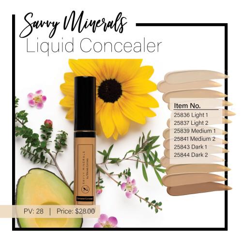 Savvy Minerals Liquid Concealer www.EssentialOils4Sale.com