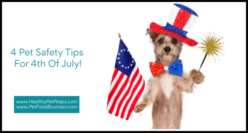 4 Pet Safety Tips For 4th Of July www.HealthyPetPeeps.com