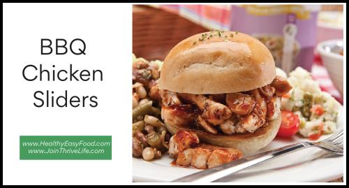 BBQ Chicken Sliders www.HealthyEasyFood.com