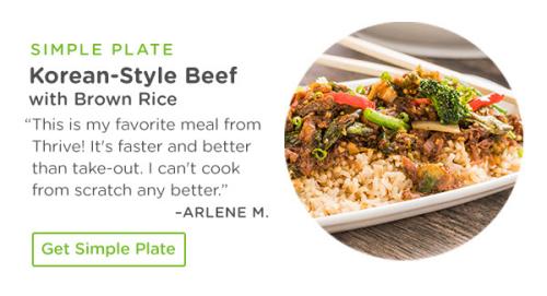 Thrive Korean Style Beef Simple Plate www.HealthyEasyFood.com
