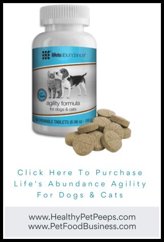 Purchase Life's Abundance Agility www.HealthyPetPeeps.com
