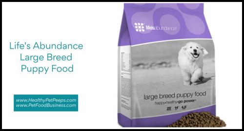 Life's Abundance Large Breed Puppy Food www.HealthyPetPeeps.com