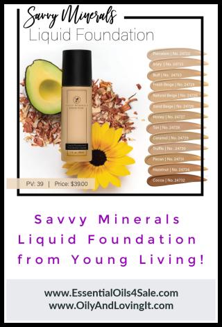 Young Living Savvy Minerals Liquid Foundation www.EssentialOils4Sale.com