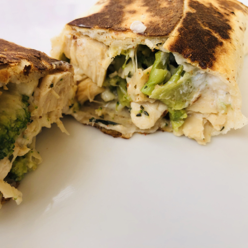 Recipe for Chicken  Cheese And Broccoli Wrap Meal In A Jar www.HealthyEasyFood.com