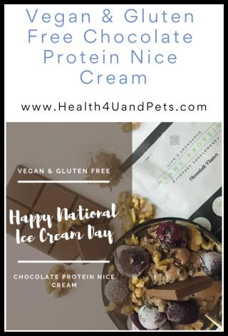 Vegan and Gluten Free Chocolate Protein Nice Cream - www.Healt4UandPets.com