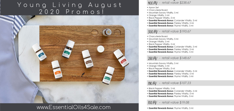 August 2020 Young Living Promos www.EssentialOils4Sale.com
