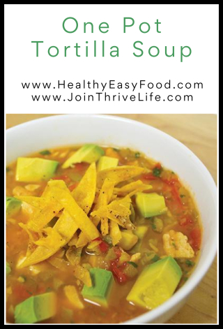 One Pot Tortilla Soup - www.HealthyEasyFood.com