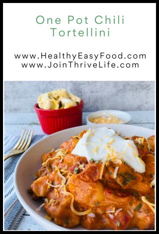One Pot Chili Tortellini - www.HealthyEasyFood.com