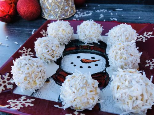 Coconut Protein Snowballs Recipe www.Health4UandPets.com