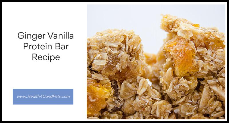 Ginger Vanilla Protein Bar Recipe www.Health4UandPets.com