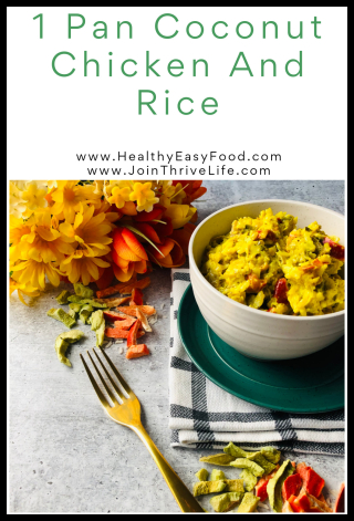 1 Pan Coconut Chicken and Rice - www.HealthyEasyFood.com