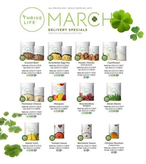 Thrive Life March Specials www.HealthyEasyFood.com