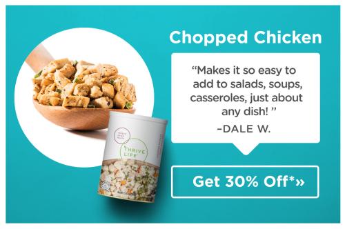 Thrive chopped chicken