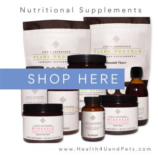 Shop for Life's Abundance Nutritional Supplements www.Health4UandPets.com