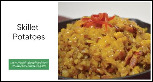 Skillet Potatoes www.HealthyEasyFood.com