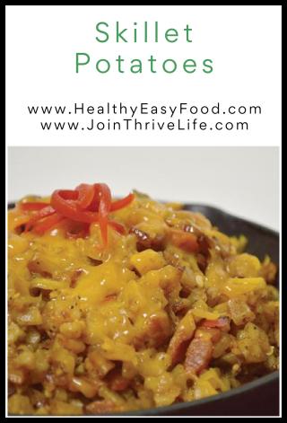 Skillet Potatoes - www.HealthyEasyFood.com