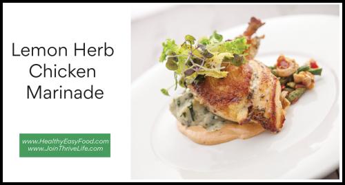 Lemon Herb Chicken Marinade www.HealthyEasyFood.com