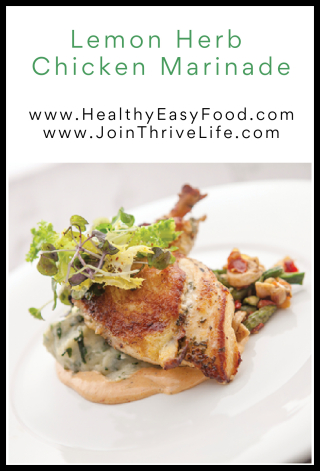 Lemon Herb Chicken Marinade - www.HealthyEasyFood.com